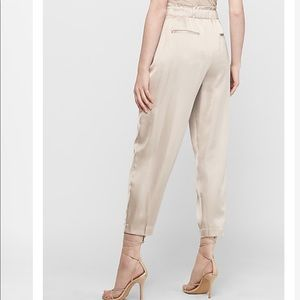 Express Pants & Jumpsuits - High Waisted Satin Pleated Ankle Jogger Pant
